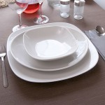 Lot de 6 assiettes à steak porcelaine blanche - D 30,5 cm - Tivoli