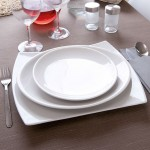 Lot de 6 assiette ovale porcelaine blanche - D 28 cm - Siviglia
