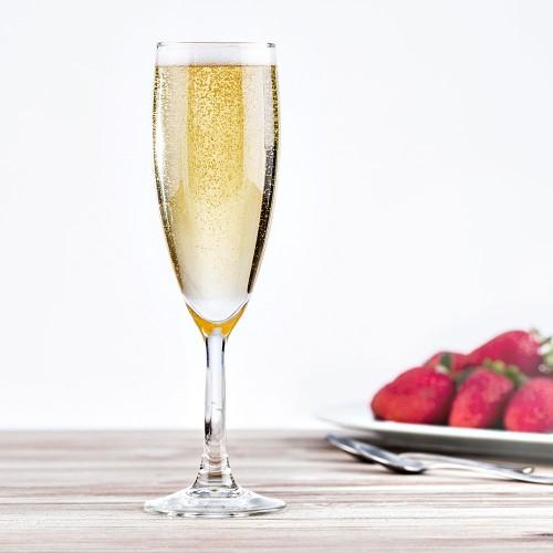 Flûtes à champagne Merlot 15 cl x 6