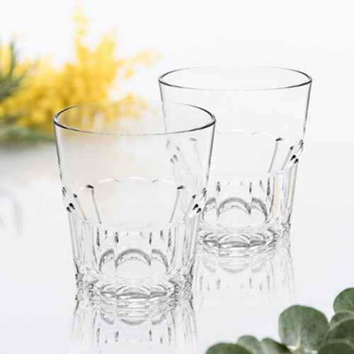 Lot de 6 verres à eau empilable Nervion 27 cL