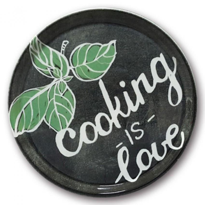 Assiette à pizza Cooking Love-D 31 cm