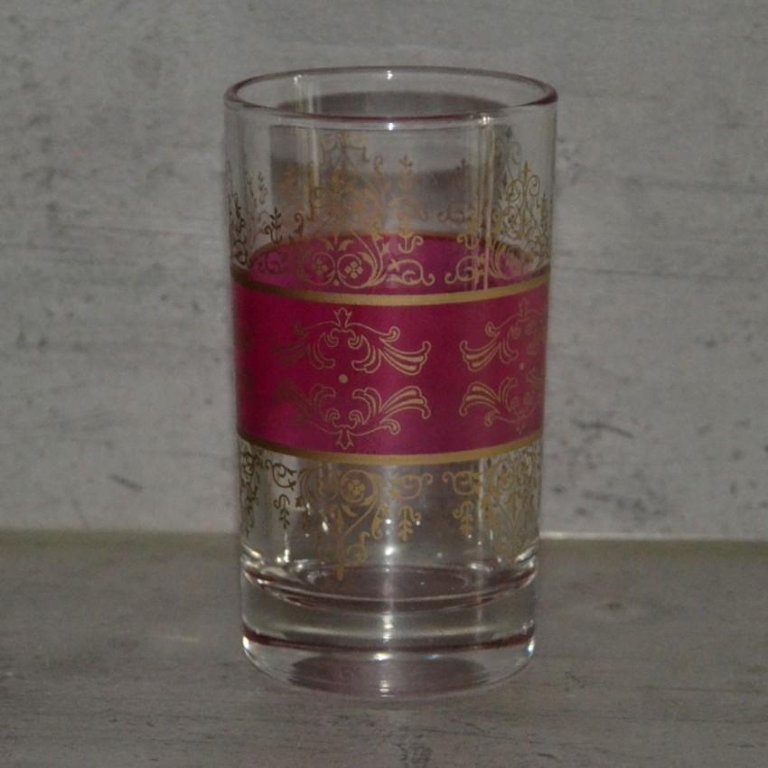 Lot de 6 verres à thé Shéhérazade Rose