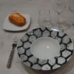 Petite assiette à dessert en porcelaine blanche - L 17 cm