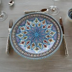 Assiette plate Bakir turquoise - D 28 c