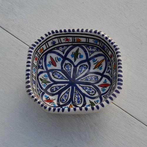 Plat octogonal Bakir bleu - L 11 cm