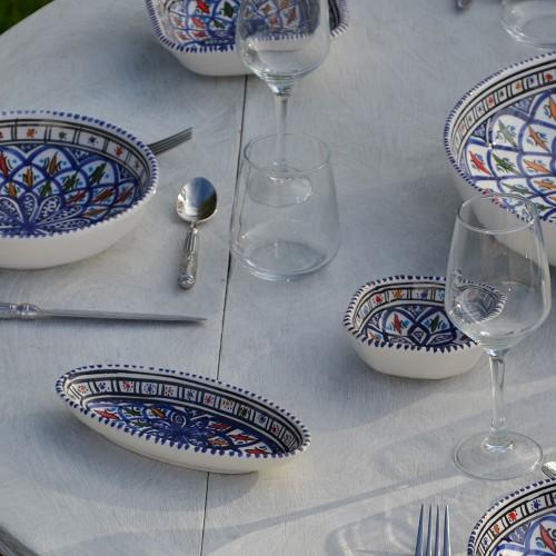 Plat ovale Bakir bleu - L 20 cm