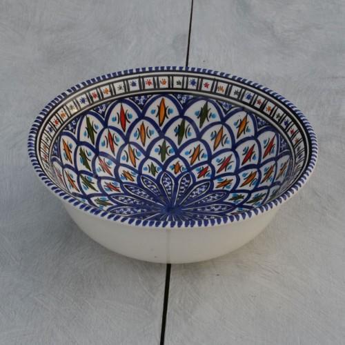 Saladier Bakir bleu - D 25 cm