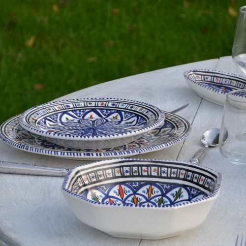 Service de table Bakir bleu - 12 pers