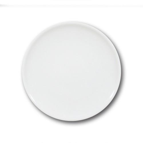 Lot de 6 assiette plate porcelaine blanche - D 26 cm - Siviglia