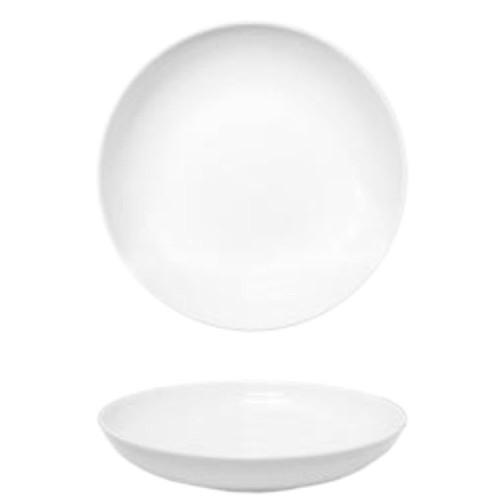 Lot de 6 assiettes creuses porcelaine blanche - D 22 cm - Siviglia