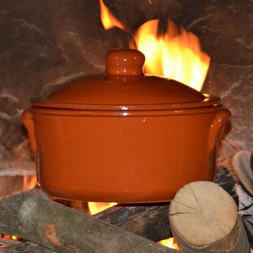 Casserole de cuisson en terre cuite - D 22 cm