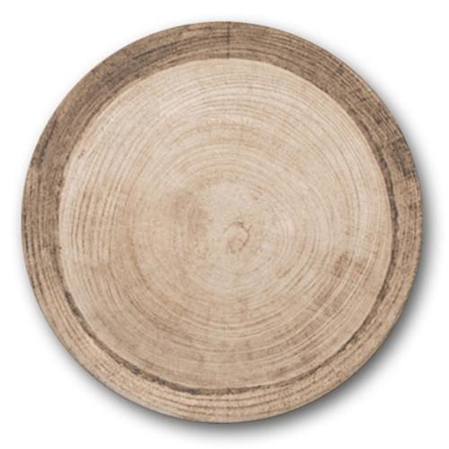 Assiette à pizza décor Effet Bois-D 33 cm