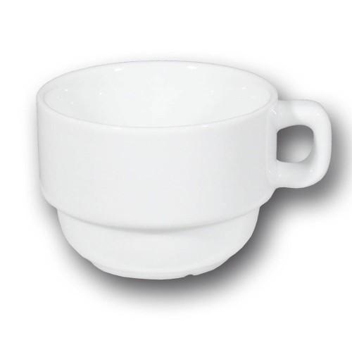 Tasse à thé et sous tasse porcelaine blanche - Roma