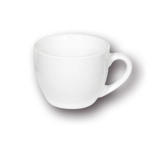 Tasse à expresso et sa soucoupe 1 personne porcelaine blanche