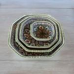 Plat octogonal Bakir vert - L 20 cm