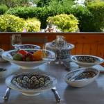 Plat traditionnel Tebsi Bakir vert - D 37 cm