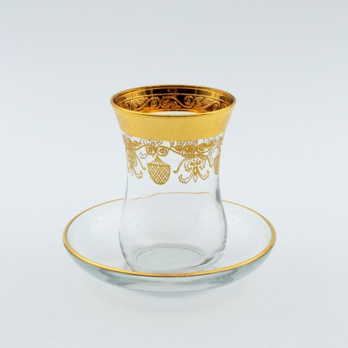 erres à café ou à thé avec ces soucoupes Hamadi 10 cl x 6 - Coffret