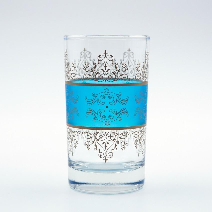 Verres à thé Shéhérazade Bleu x 6