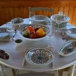 Service à couscous assiettes creuses Bakir vert - 6 pers
