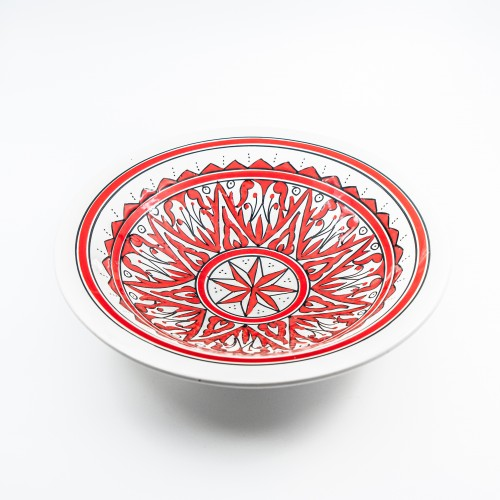 Plat Tebsi Nejma rouge - D 33 cm