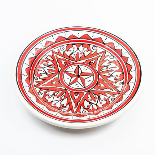 Assiette à entrée ou dessert Nejma rouge - D 20 cm