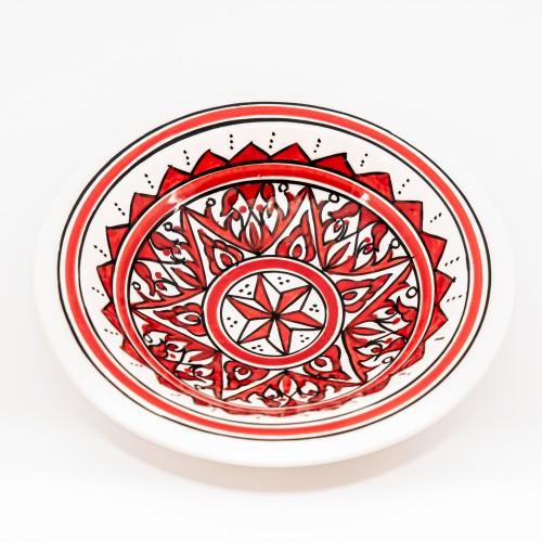 Lot de 6 assiettes Tebsi Nejma rouge - D 23 cm