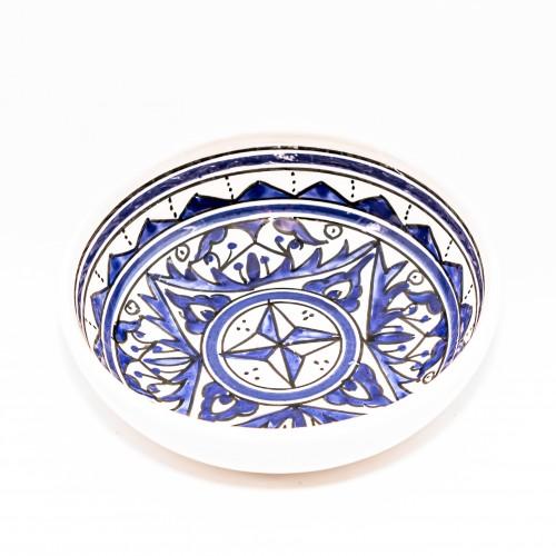 Assiette creuse jatte Nejma bleu - D 20 cm