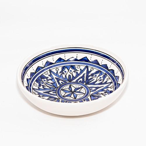 Lot de 6 assiettes creuses jattes Nejma Bleu - D 20 cm