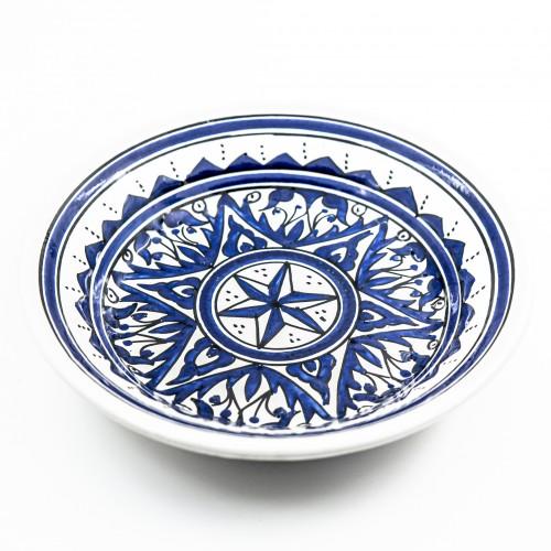Lot de 6 assiettes creuses Nejma bleu - D 24 cm