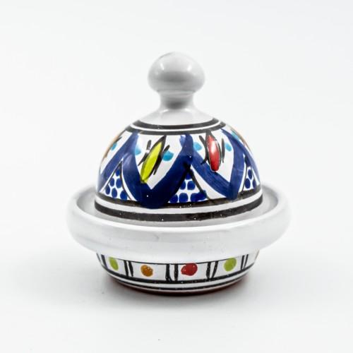 Mini tajine Multifonction - Bakir Bleu - D 8 cm