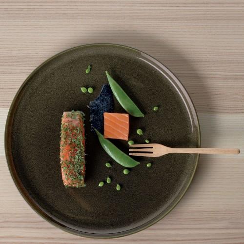 Assiette plate - D 26.5 cm Verte - Kolibri Chestnut