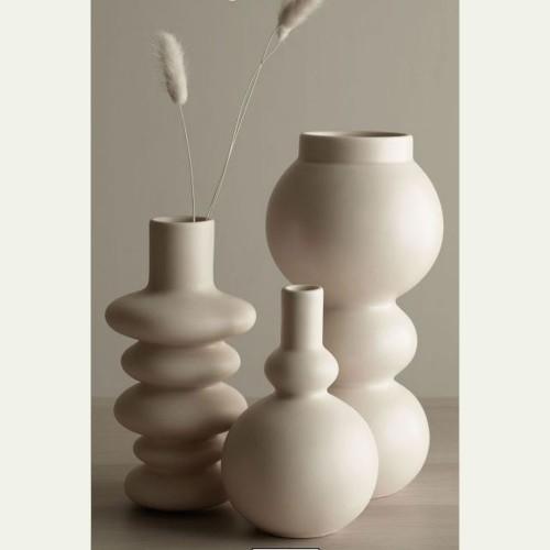 Vase Como Crème Boule - H 15.5 cm