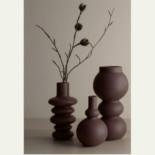 Vase Como Mocha Boule - H 15.5 cm