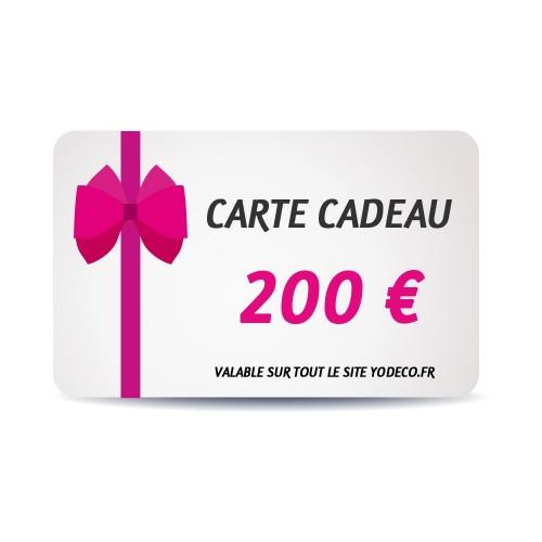 Carte Cadeau de 200 €