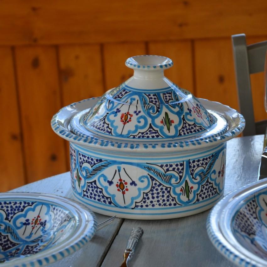 Cocotte Querouana Marocain turquoise - D 20 cm