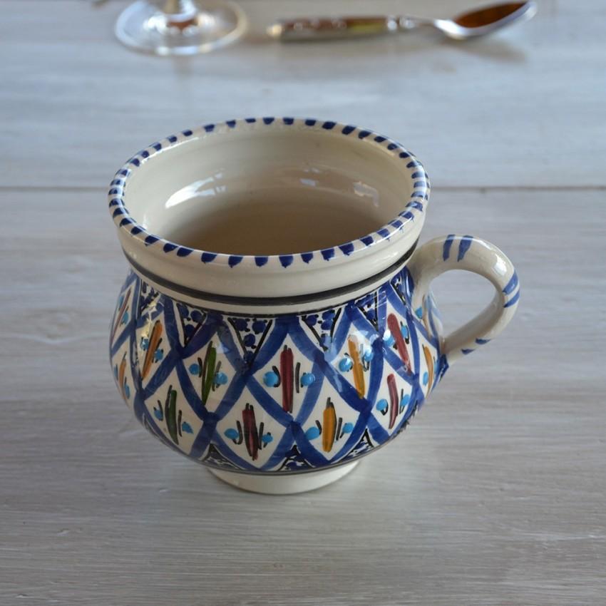Petit pot Méditerranée bleu - D 12 cm