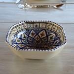 Plat octogonal Bakir bleu - L 16 cm
