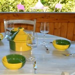 Bol Kerouan jaune et vert - D 15 cm