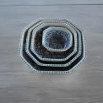Plat octogonal Marocain turquoise - L 11 cm