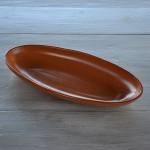 Plat ovale en terre cuite - L 40 cm