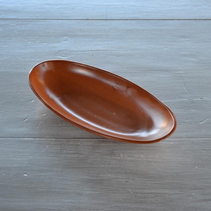 Plat ovale en terre cuite - L 30 cm