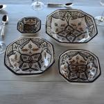 Plat octogonal Marocain noir - L 15 cm