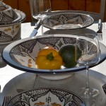 Plat Tebsi Marocain noir - D 33 cm