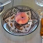 Assiette à entrée ou dessert Marocain noir - D 20 cmm