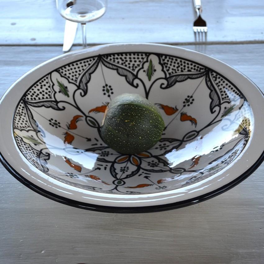 Plat Tebsi Marocain noir - D 27 cm