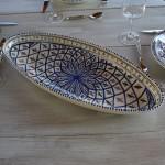 Plat ovale Jileni bleu - L 50 cm