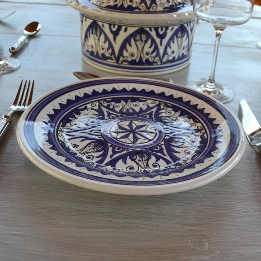 Assiette plate Nejma bleu - D 24 cm