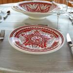 Assiette plate Nejma rouge - D 24 cm