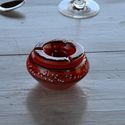 Cendrier tunisien Tatoué rouge - Petit modèle