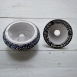 Cendrier anti fumée Bakir bleu - D 20 cm